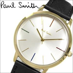 ポールスミス/PAUL SMITH 腕時計(P10059)ゴールド×シルバー/ブラックレザー|ryus-select