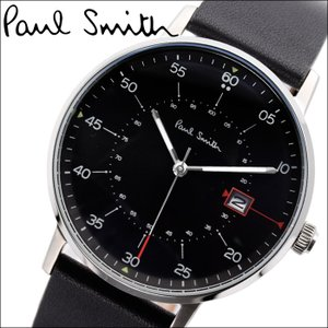 ポールスミス/PAUL SMITH 腕時計(P10071)ブラック×シルバー/ブラックレザー|ryus-select