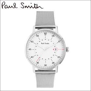 【商品入れ替えクリアランス】ポールスミス 腕時計 メンズ (P10075)ホワイト×シルバー メッシュ 白い腕時計 ryus-select