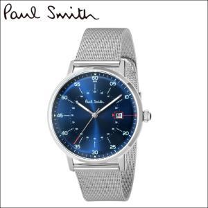 【当店ならお得クーポンあり】ポールスミス/PAUL SMITH 腕時計(P10078)ネイビー×シルバー/メッシュ ryus-select