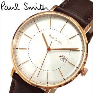 【当店ならお得クーポンあり】ポールスミス PAUL SMITH 腕時計 P10082 ブラウン レザー ryus-select