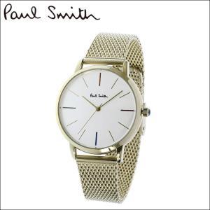 【当店ならお得クーポンあり】ポールスミス/PAUL SMITH 腕時計(P10103)シルバー×ゴールド/メッシュ ryus-select