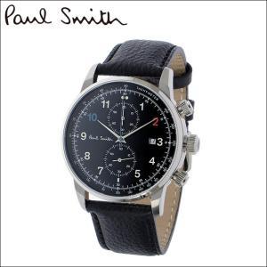 【当店ならお得クーポンあり】ポールスミス PAUL SMITH 腕時計 P10140 ブラックレザー ryus-select