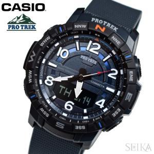 カシオ CASIO (196) PRT-B50-2 PRT-B50-2ER プロトレック 10気圧防水 メンズ 腕時計 時計 アナログ デジタル グレー 父の日 ryus-select