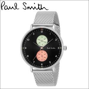 【当店ならお得クーポンあり】ポールスミス PAUL SMITH腕時計 メンズPS0070006 ブラック シルバーメッシュ ryus-select