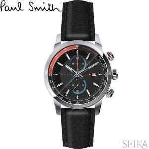 【当店ならお得クーポンあり】ポールスミス PAUL SMITH PS0110019腕時計 メンズ ブラック レザー ryus-select