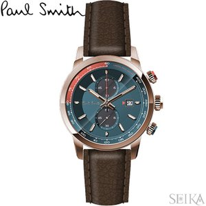 【当店ならお得クーポンあり】ポールスミス PAUL SMITH PS0110022腕時計 メンズ グリーン ブラウン レザー ryus-select