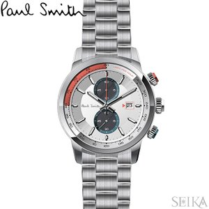 【当店ならお得クーポンあり】ポールスミス PAUL SMITH PS0110024腕時計 メンズ シルバー ryus-select
