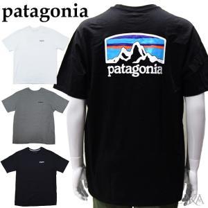 パタゴニア  38501 Tシャツ 半袖ホワイト ブラック グレーメンズ ロゴ Tシャツ アパレル (CPT)|ryus-select