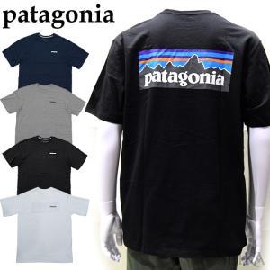 パタゴニア  38504 Tシャツ 半袖ホワイト ブラック グレー ネイビーメンズ ロゴ Tシャツ アパレル (CPT)|ryus-select