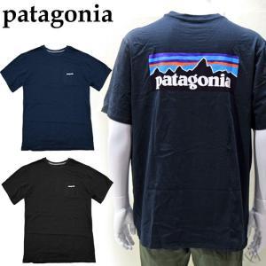 パタゴニア  38512 Tシャツ 半袖ホワイト ブラック グレー ネイビーメンズ ロゴ Tシャツ アパレル (CPT)|ryus-select