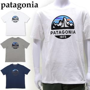 パタゴニア  38526 Tシャツ 半袖ホワイト グレー ネイビーメンズ ロゴ Tシャツ アパレル (CPT)|ryus-select
