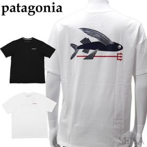 パタゴニア  38528 Tシャツ 半袖ホワイト ブラック メンズ ロゴ Tシャツ アパレル (CPT)|ryus-select