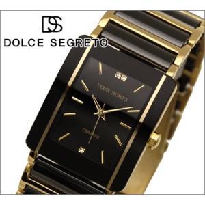【当店ならお得クーポンあり】ドルチェ セグレート DOLCE SEGRETO メンズ 腕時計 RD100GD/ブラック×ゴールド/スクエア|ryus-select