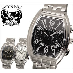 ゾンネ SONNE メンズ 腕時計 S052NB/S052GNB/S053NB/ スクエア/クロノグラフ|ryus-select