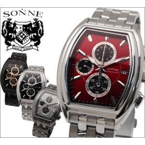 時計 ゾンネ SONNE メンズ 腕時計 S097 S114N S115N S115RE スクエア クロノグラフ|ryus-select