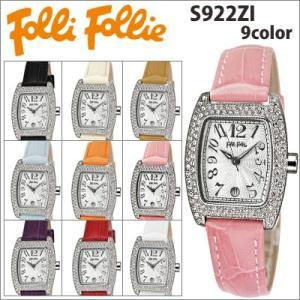 【当店ならお得クーポンあり】フォリフォリ 腕時計/Folli Follie レディース 時計全9色/S922ZI/クリスタル/レザー フォリフォリ|ryus-select