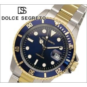 時計 ドルチェ セグレート DOLCE SEGRETO メンズ 腕時計ブルー×コンビ (SB200BU) (CSB200BU)|ryus-select
