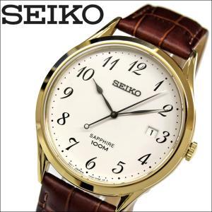 【当店ならお得クーポンあり】セイコー SEIKO SGEH78P1(1)時計 腕時計 メンズ ブラウン レザー海外モデル 逆輸入|ryus-select