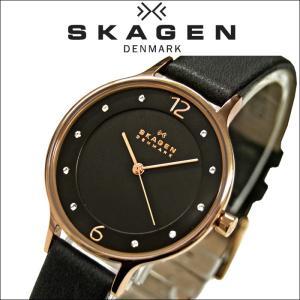 スカーゲン SKAGEN時計 腕時計 レディースレザー ダークグレー ピンクゴールド SKW2267|ryus-select