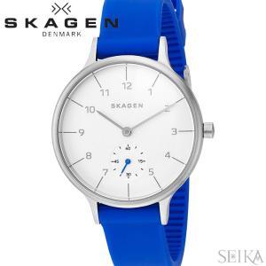 【当店ならお得クーポンあり】スカーゲン SKAGEN skw2602 アニタ時計 腕時計 レディース ホワイト ブルー ラバー|ryus-select