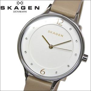スカーゲン SKAGEN SKW2648時計 腕時計 レディースAnita アニタ シルバー ライトベージュ レザー|ryus-select