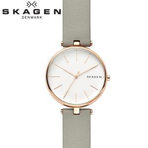 【商品入れ替えクリアランス】スカーゲン SKAGEN SKW2710 シグネチャー 時計 腕時計 レディース グレー レザー(今春注目のニュアンスカラー)|ryus-select