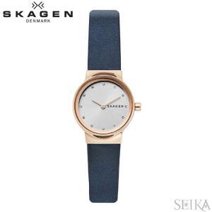 【当店ならお得クーポンあり】スカーゲン SKAGEN SKW2744 フレヤ時計 腕時計 レディース ネイビー レザー|ryus-select