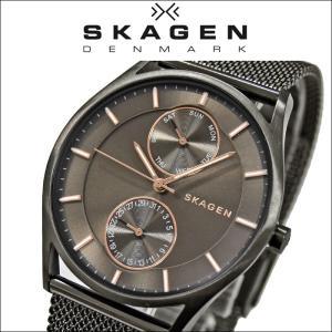 【商品入れ替えクリアランス】スカーゲン SKAGEN 時計 腕時計 メンズ メッシュ ブラウン ピンクゴールド SKW6180|ryus-select