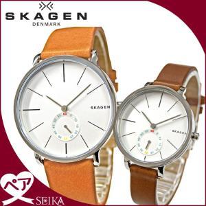 【当店ならお得クーポンあり】ペアウォッチ スカーゲン 時計 腕時計  メンズ レディースレザー SKW6215 SKW2434 (G)|ryus-select