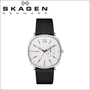 スカーゲン メンズ 時計 (SKW6256) ホワイト×ブラックレザー|ryus-select
