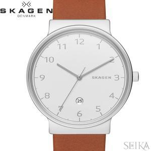 (レビューを書いて5年保証) 時計 スカーゲン SKAGEN SKW6292 アンカー 腕時計 メンズ ホワイト ブラウン レザー|ryus-select