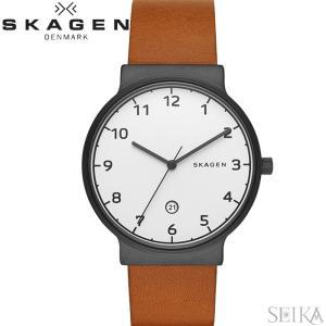 (レビューを書いて5年保証) 時計 スカーゲン SKAGEN SKW6297 アンカー 腕時計 メンズ ブラウン レザー|ryus-select