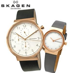ペアウォッチ スカーゲン  SKW6371/メンズ SKW2669/レディース時計 腕時計 ピンクゴールド ブラック グレー レザー|ryus-select
