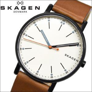 スカーゲン SKAGEN SKW6374時計 腕時計 メンズブラック レザー|ryus-select