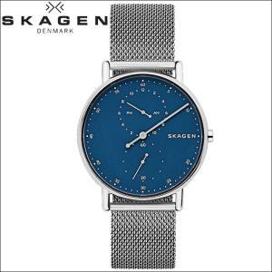 【商品入れ替えクリアランス】スカーゲン SKAGEN SKW6389 シグネチャー 時計 腕時計 メンズ ネイビー シルバー メッシュ青い腕時計|ryus-select