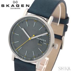 【当店ならお得クーポンあり】スカーゲン SKAGEN SKW6451 シグネチャー時計 腕時計 メンズソーラー ブルー レザー|ryus-select