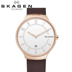 (レビューを書いて5年保証) 時計  スカーゲン SKAGEN skw6458 腕時計 メンズ ホワイト ダークブラウン レザー 白い腕時計|ryus-select