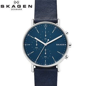 【商品入れ替えクリアランス】スカーゲン SKAGEN SKW6463 シグネチャー 時計 腕時計 メンズ ネイビー レザー 青い腕時計|ryus-select