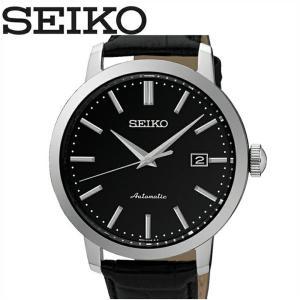 【当店ならお得クーポンあり】セイコー SEIKO SRPA27K1(47)NEO CLASSIC時計 腕時計 メンズ ブラック レザー自動巻き 逆輸入|ryus-select