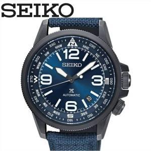 セイコー SRPC31K1(48) 時計 腕時計 メンズ ネイビー レザー 自動巻き 逆輸入 青い腕時計|ryus-select