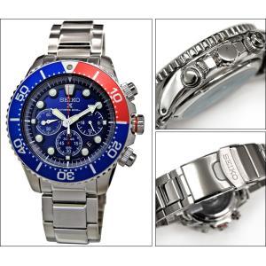 セイコー SSC019P1(25) ダイバーズ ソーラー 時計 腕時計 メンズ ブルー レッド 海外モデル 逆輸入【20気圧 200M 防水】 青い腕時計|ryus-select|02