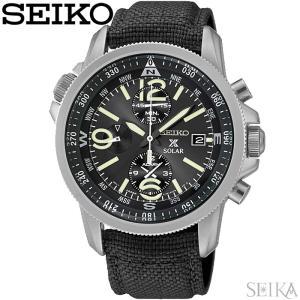 【当店ならお得クーポンあり】セイコー SEIKO SSC293P2(94) プロスペックス ソーラー時計 腕時計 メンズ ブラック ナイロンベルト海外モデル 逆輸入|ryus-select