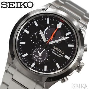 【商品入れ替えクリアランス】セイコー SEIKO SSC479P1(73) スポーチュラ ソーラー 時計 腕時計 メンズ ブラック 海外モデル 逆輸入|ryus-select
