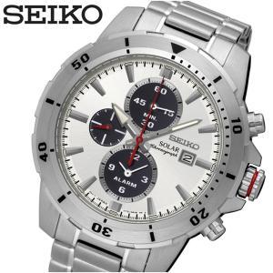 【当店ならお得クーポンあり】セイコー SEIKO SSC553P1(82) ソーラー クロノグラフ時計 腕時計 メンズ ホワイト シルバー|ryus-select