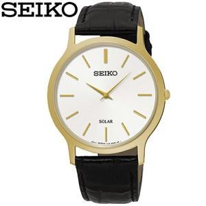 【商品入れ替えクリアランス】セイコー SEIKO SUP872P1(60) ソーラー 時計 腕時計 メンズ レディース ユニセックス ブラック レザー 海外モデル 逆輸入 ryus-select