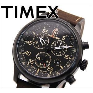 タイメックス/TIMEX メンズ 時計 (T49905/ブラウン) エクスペディションフィールドクロノグラフ 正規品|ryus-select