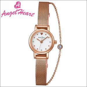 (ショップ袋付)エンジェルハート Angel Heartタイニーチャーム 時計 腕時計 レディースTC19PG 替えベルト付 ホワイト ピンクゴールド|ryus-select