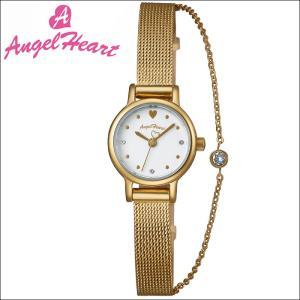 (ショップ袋付)エンジェルハート Angel Heartタイニーチャーム 時計 腕時計 レディースTC19YG 替えベルト付 ホワイト イエローゴールド|ryus-select