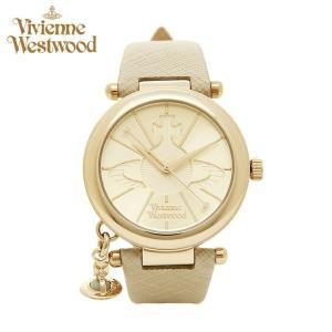 (ショップ袋プレゼント)ヴィヴィアンウエストウッドVivienne Westwood時計 腕時計 レディースゴールド ベージュ レザー VV006GDCM|ryus-select